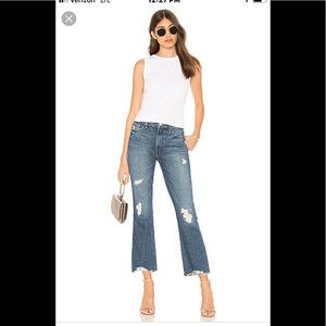 """MOTHERS """"The Insider Ankle"""" distressed jeans"""